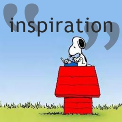 Snoopy, writing up dialogue
